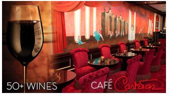 Cafe Carelton 50+ wines