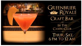 Greenbrier Royale Craft Bar