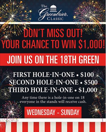 Greenbrier Classic don't miss out Ad