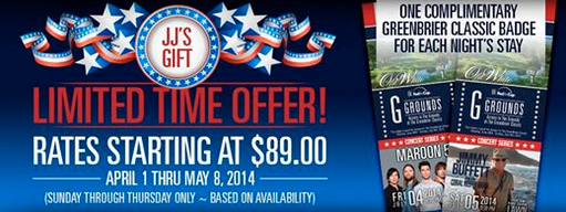 Greenbrier Classic Limited offer Ad