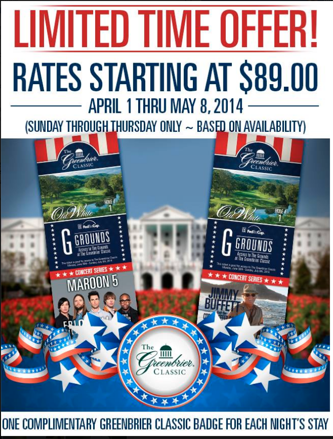 Greenbrier Classic Ad