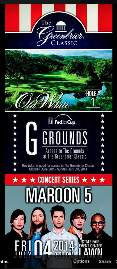 Greenbrier Classic Ticket Design