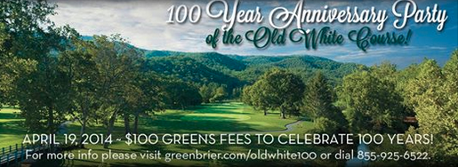 Old White 100 years Ad