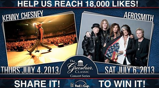Greenbrier Classic Concert Series Ad