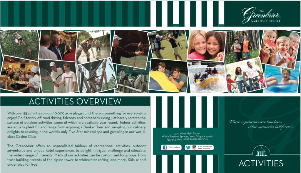 Activities Brochure cover