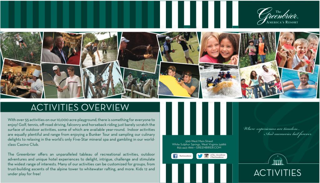 Activities Brochure cover
