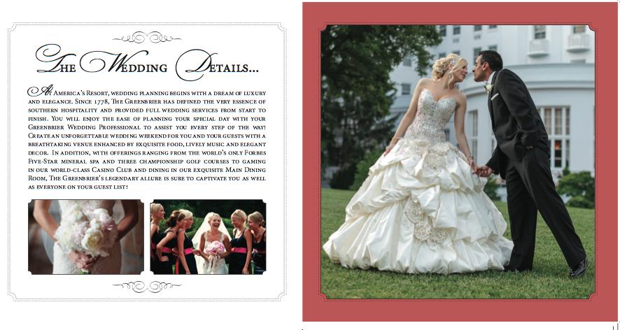 Wedding Brochure Inside page