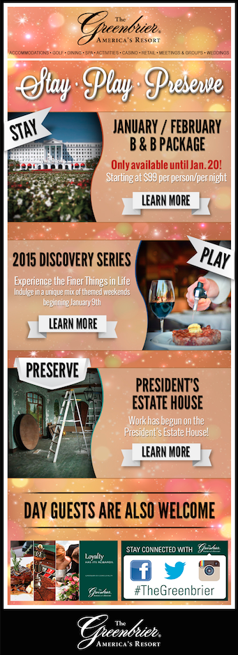 Stay Play Preserve eblast