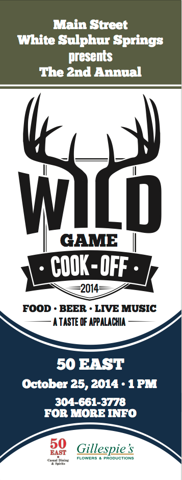 Wild Game Cook-off tix & logo