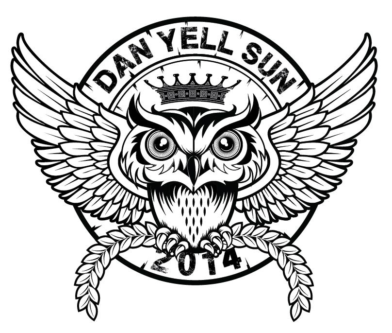 Dan Yell Sun Tshirt owl design