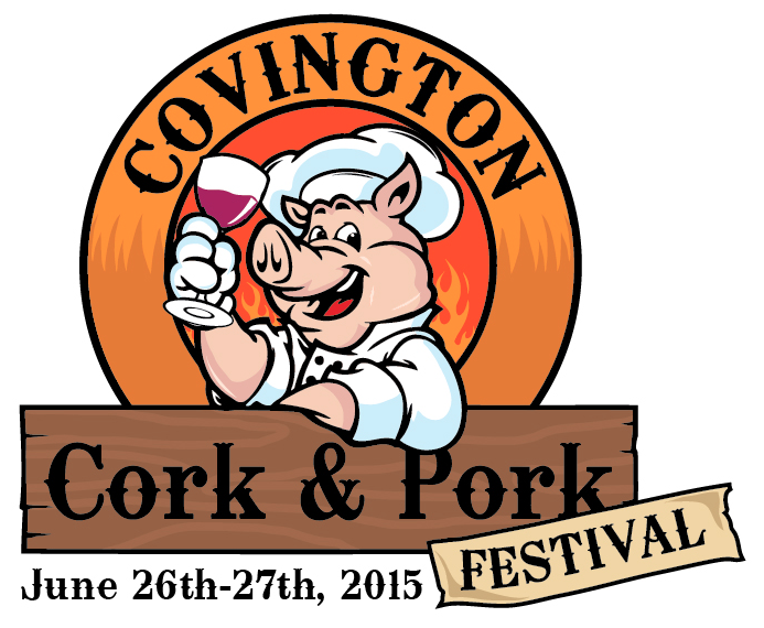 Covington Cork and Pork Festival Logo