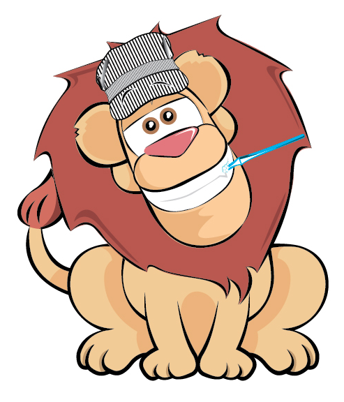 Dr. Brumbaugh Lion Logo